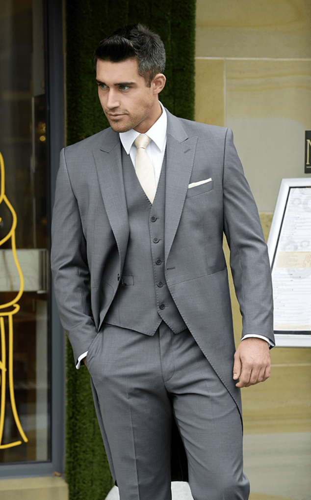 Grey Tails and Matching Waistcoat