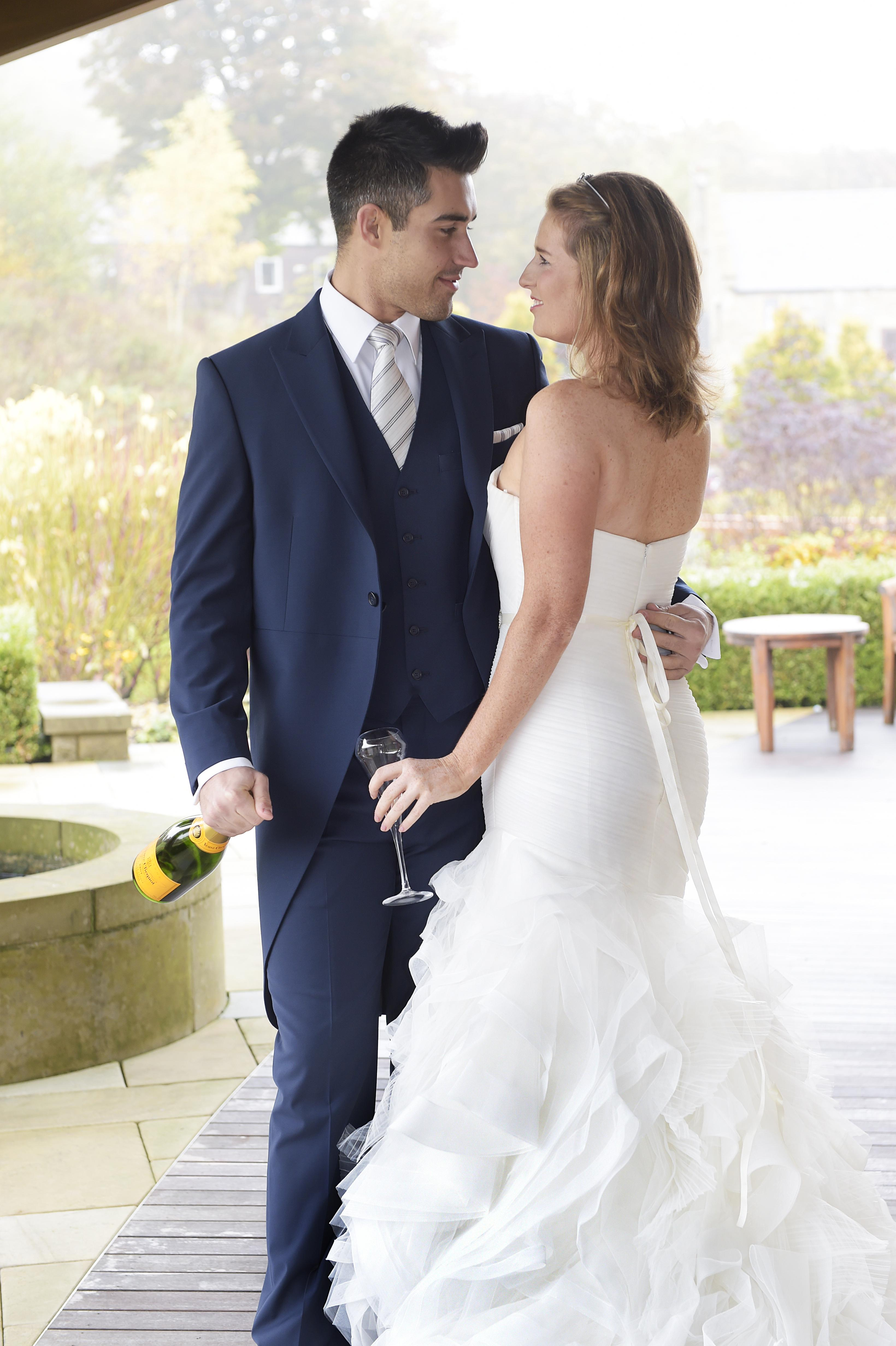 Navy Blue Tails with matching waistcoat