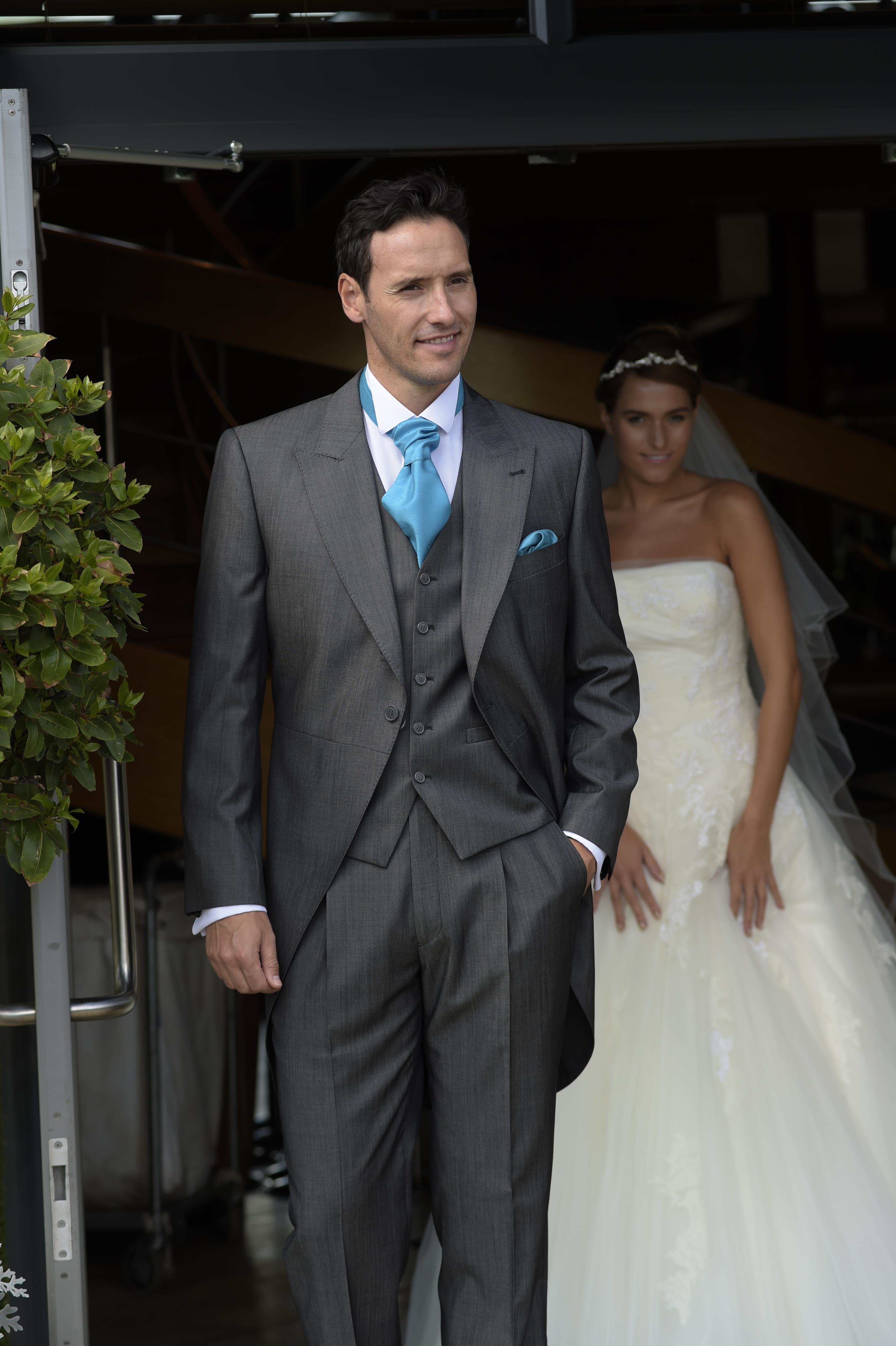Silk Grey Tailcoat and matching waistcoat
